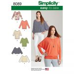 Easy Sewing Patterns Misses Easy To Sew Knit Tops Simplicity Sewing Pattern 8089 Sew