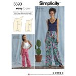 Easy Sewing Patterns Sewing Pattern 8390 A Easy Sew Trousers One Size