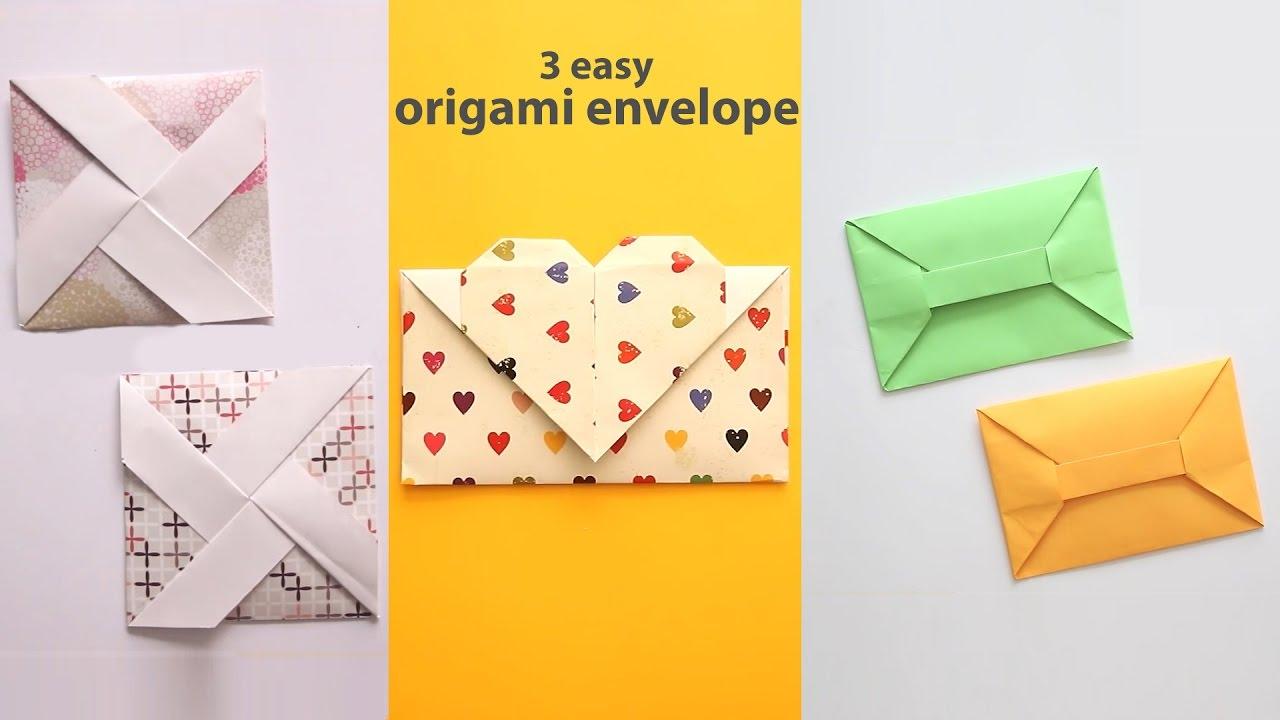Envelope Origami Easy 3 Easy Origami Envelopes Youtube