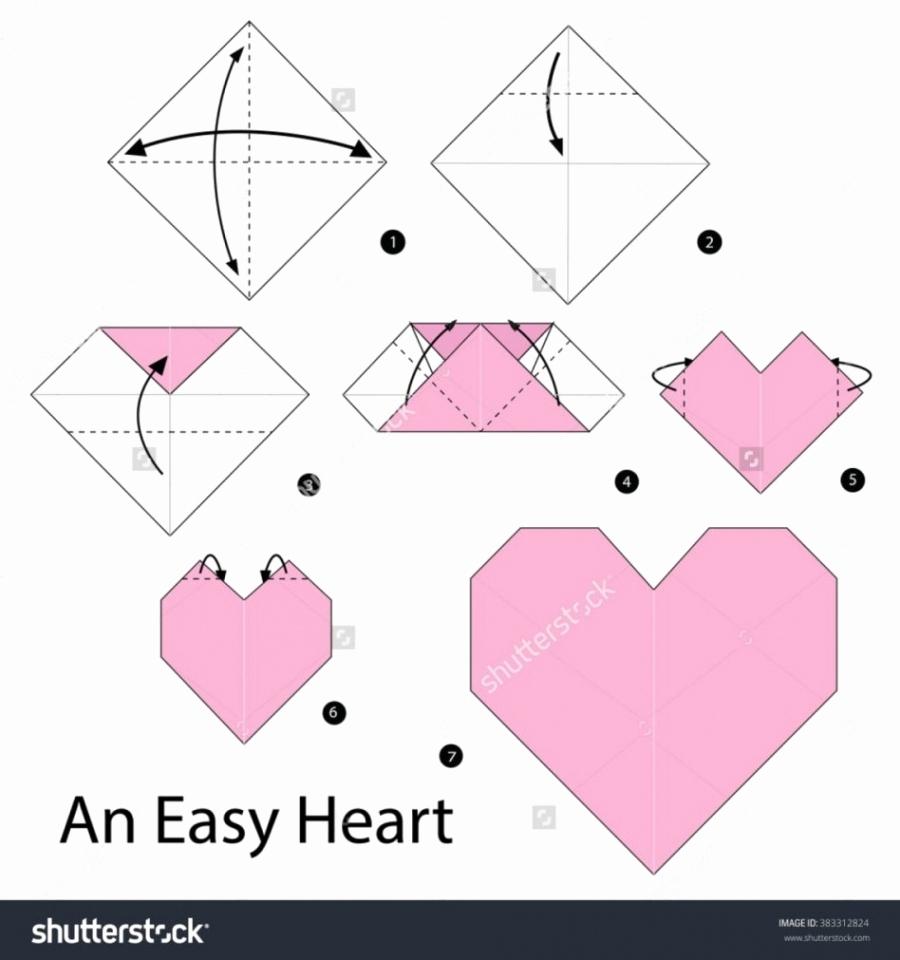 Envelope Origami Easy 92 Origami Heart Card Instructions Origami Heart Box Envelope