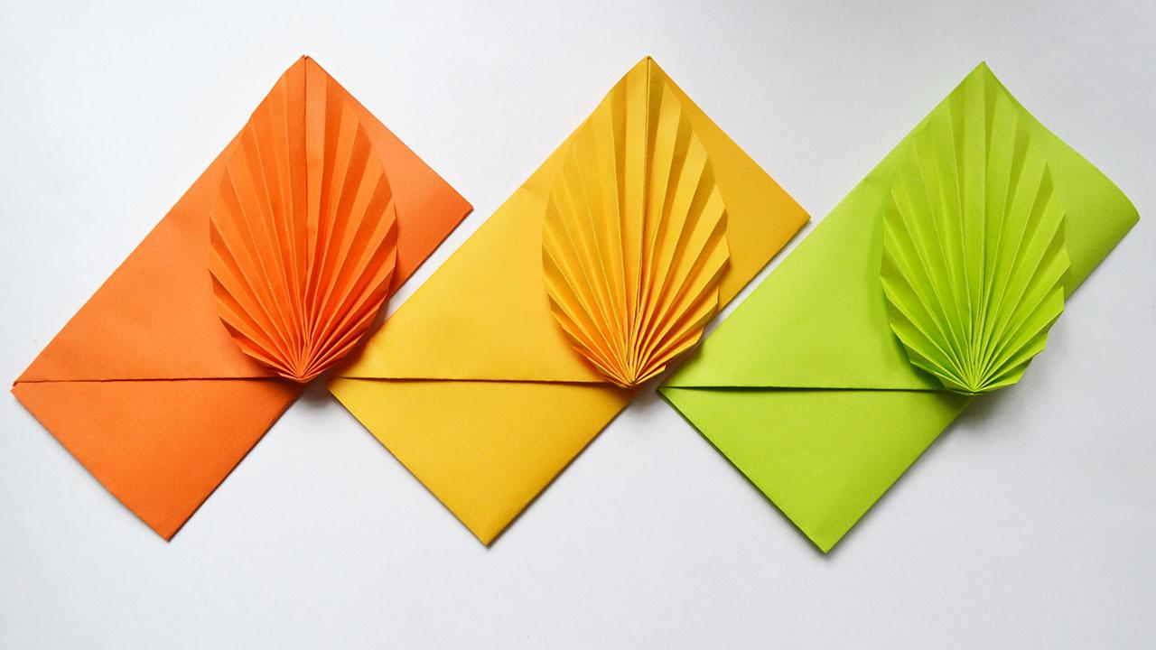 Envelope Origami Easy Colored Paper Envelope Easy Origami Tutorial Diy Papercraft