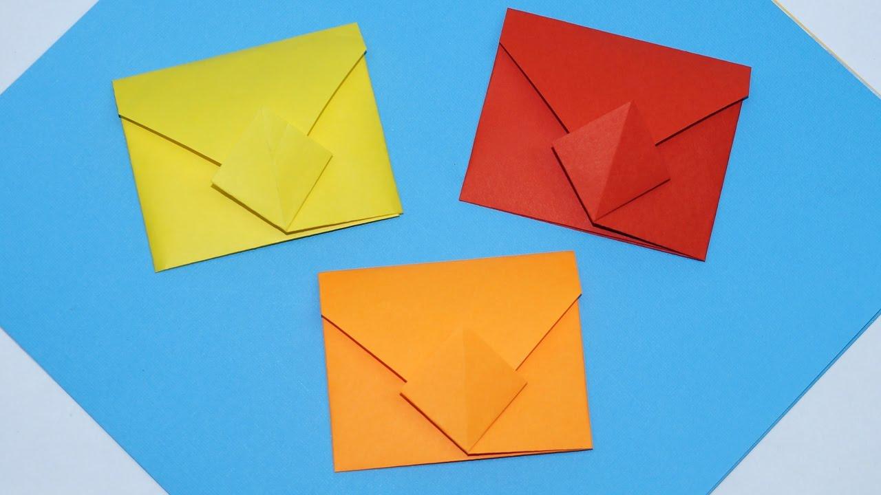 Envelope Origami Easy Diy Easy Origami Envelope Tutorial How To Make Envelope Diy