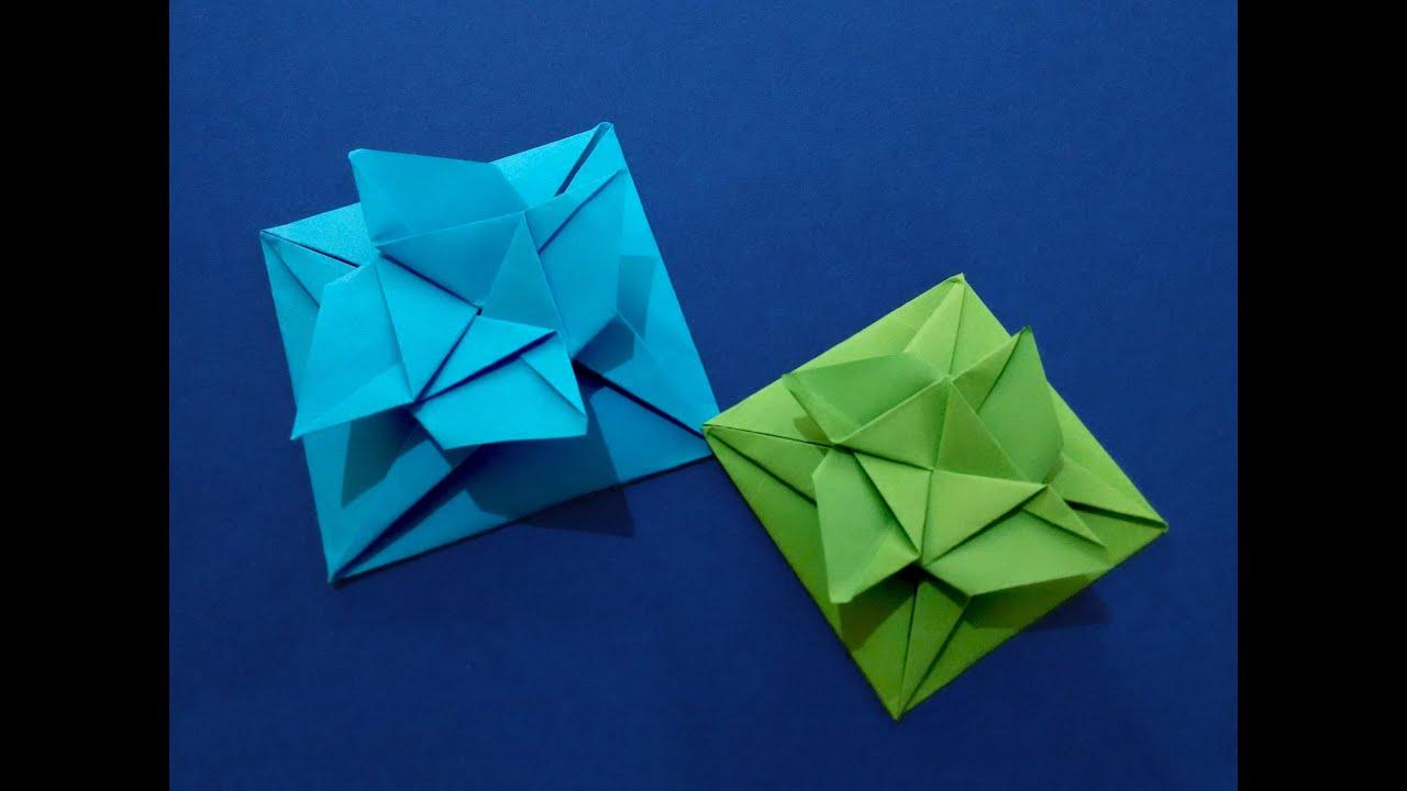 Envelope Origami Easy Easy Origami Square Flower Envelope With Secret Message Inside