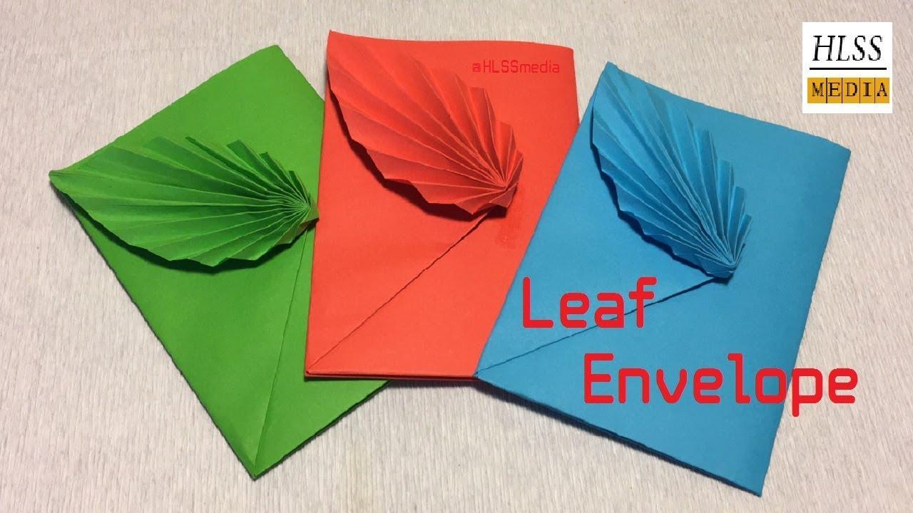 Envelope Origami Easy How To Make Leaf Envelope With Paper Diy Origami Envelope Folding