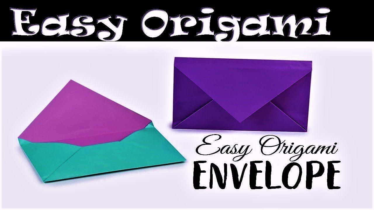 Envelope Origami Easy Origami Envelope No Glue No Tape How To Make An Origami Easy