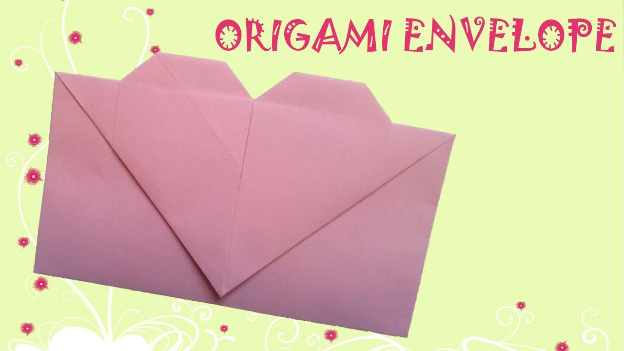 Envelope Origami Easy Origami Heart Envelope Origami Easy Youtube