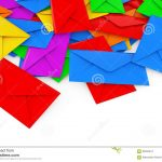 Envelope Origami Letters Color Blank Envelope Letters Heap 3d Rendering Stock Illustration
