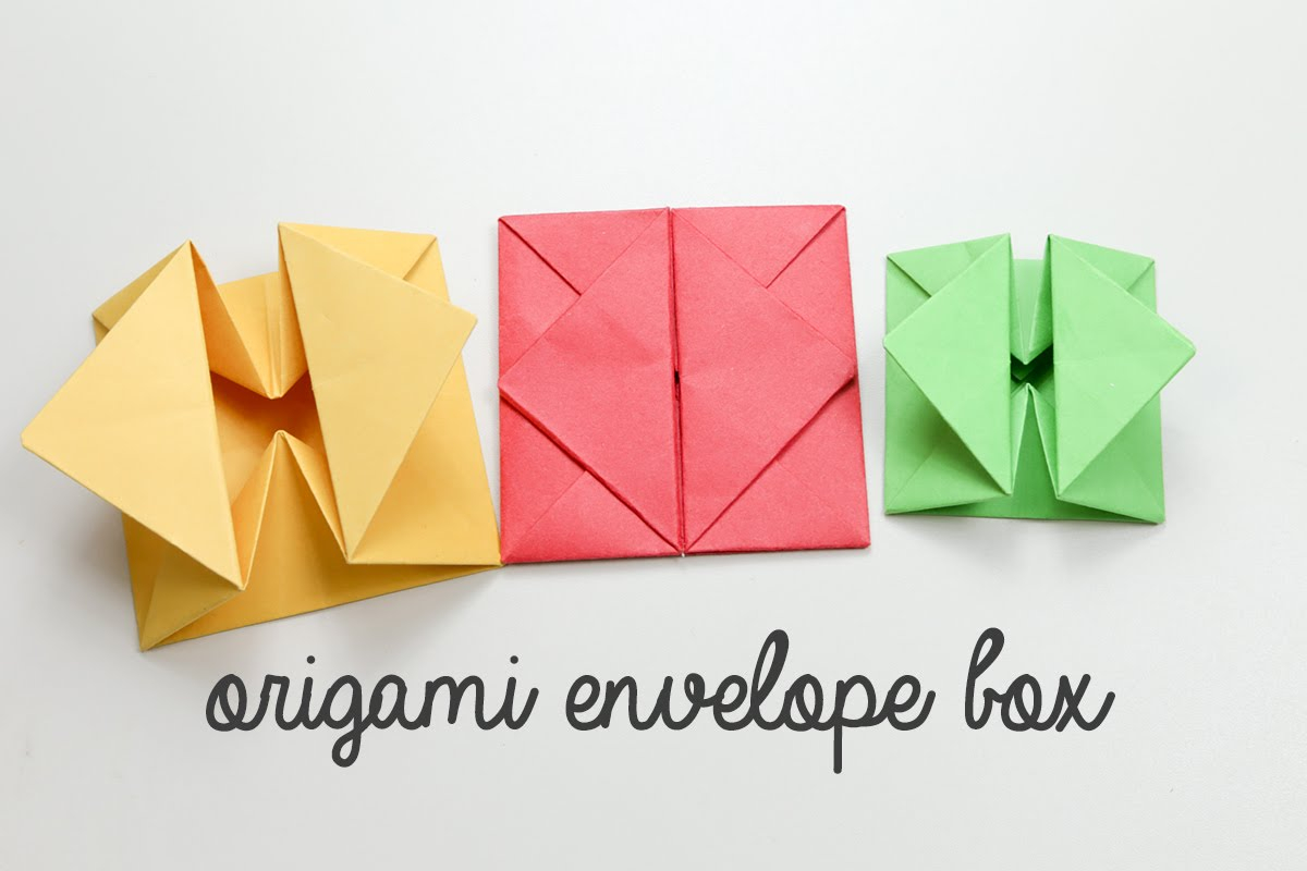 Envelope Origami Letters Origami Envelope Box Tutorial Instructions Diy Youtube
