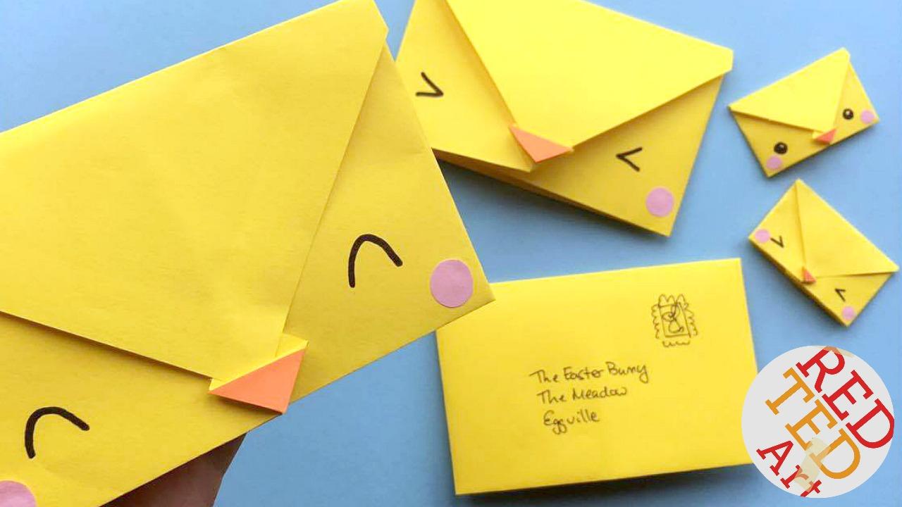 Envelope Origami Letters Origami Envelope Chick Paper Crafts For Kids Red Ted Arts Blog