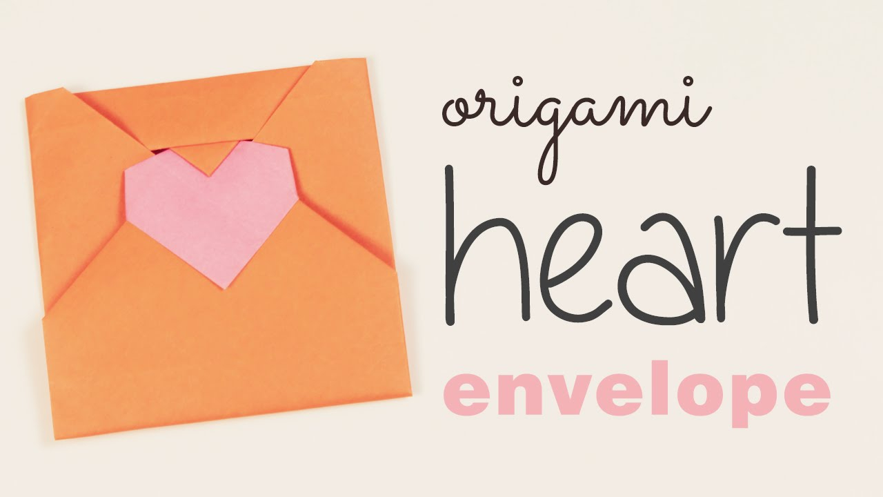 Envelope Origami Letters Origami Heart Envelope Tutorial Diy Love Letter Youtube