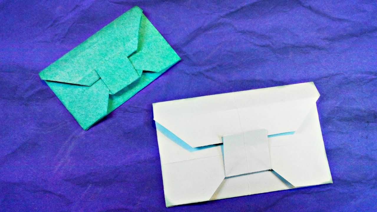 Envelope Origami Letters Origami Paper Envelope Tutorial Easy Letter Card Diy No Glue Youtube