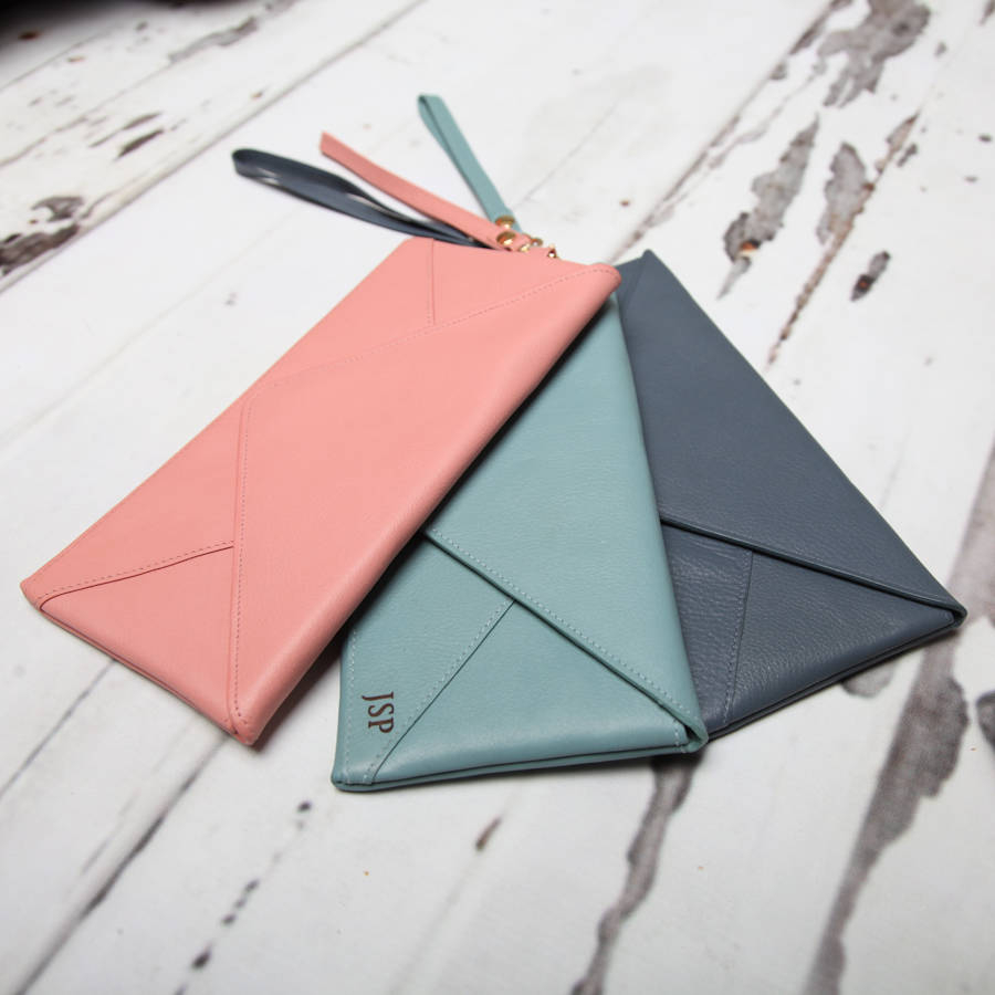 Envelope Origami Letters Personalised Envelope Leather Purse Mini Clutch Nv London