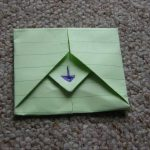 Envelope Origami Letters Turn Your Letter Into Its Own Envelope Origami Papercrafts