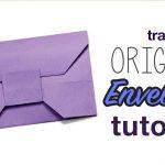 Envelope Origami Tutorials Traditional Origami Envelope Tutorial Youtube