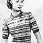 Fairisle Knitting Patterns Free Free Vintage Knitting Pattern Fair Isle 1946 Knitting Pinterest