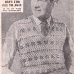 Fairisle Knitting Patterns Free Free Vintage Knitting Pattern From Ww2 Mens Fair Isle Pullover
