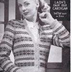 Fairisle Knitting Patterns Free Free Ww2 Knitting Pattern La Laine Fair Isle Cardigan Knitting Bee