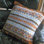 Fairisle Knitting Patterns Free Littletheorem Chunky Fairisle Cushion