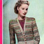 Fairisle Knitting Patterns Free The Vintage Pattern Files 1940s Knitting Bestway No1491 Fair