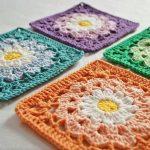 Granny Square Crochet Pattern 10 Flower Granny Square Crochet Patterns To Stitch