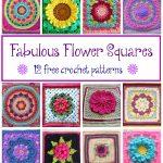 Granny Square Crochet Pattern Fiber Flux Fabulous Flower Squares 12 Free Crochet Patterns