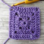 Granny Square Crochet Pattern Fiber Flux How To Crochet A Solid Granny Square