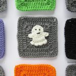 Granny Square Crochet Pattern Halloween Ghost Granny Square Crochet Pattern Marias Blue Crayon