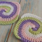 Granny Square Crochet Pattern How To Crochet A Spiral Granny Square Youtube