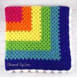 Granny Square Crochet Pattern Rainbow Granny Square Throw Charmed Ewe