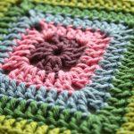 Granny Square Crochet Pattern Solid Granny Square