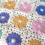 Granny Square Crochet Pattern Spring Flower Granny Square Crochet Pattern Marias Blue Crayon