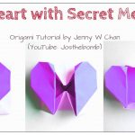 How To Make An Origami Heart Diy Origami Heart Box Envelope With Secret Message Pop Up Heart