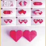 How To Make An Origami Heart How To Fold Double Origami Heart Diy How To Tutorial With All My