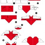 How To Make An Origami Heart How To Make An Origami Heart With Wings Free Printable Papercraft