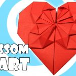 How To Make An Origami Heart Origami Blossom Heart Tutorial Origami Heart Origami
