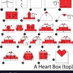 How To Make An Origami Heart Step Instructions How To Make Origami A Heart Box Vector Image