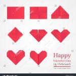 How To Make An Origami Heart Step Step Instructions How Make Stock Vektorgrafik Lizenzfrei