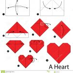 How To Make An Origami Heart Step Step Instructions How To Make Origami A Heart Stock Vector