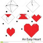 How To Make An Origami Heart Step Step Instructions How To Make Origami An Easy Heart Stock