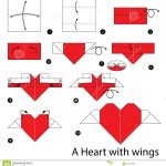 How To Make An Origami Heart Step Step Instructions How To Make Origami Heart With Wings