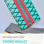 Interfacing Sewing Free Pattern Free Easy Phone Wallet Organizer Pattern And Tutorial So Sew Easy