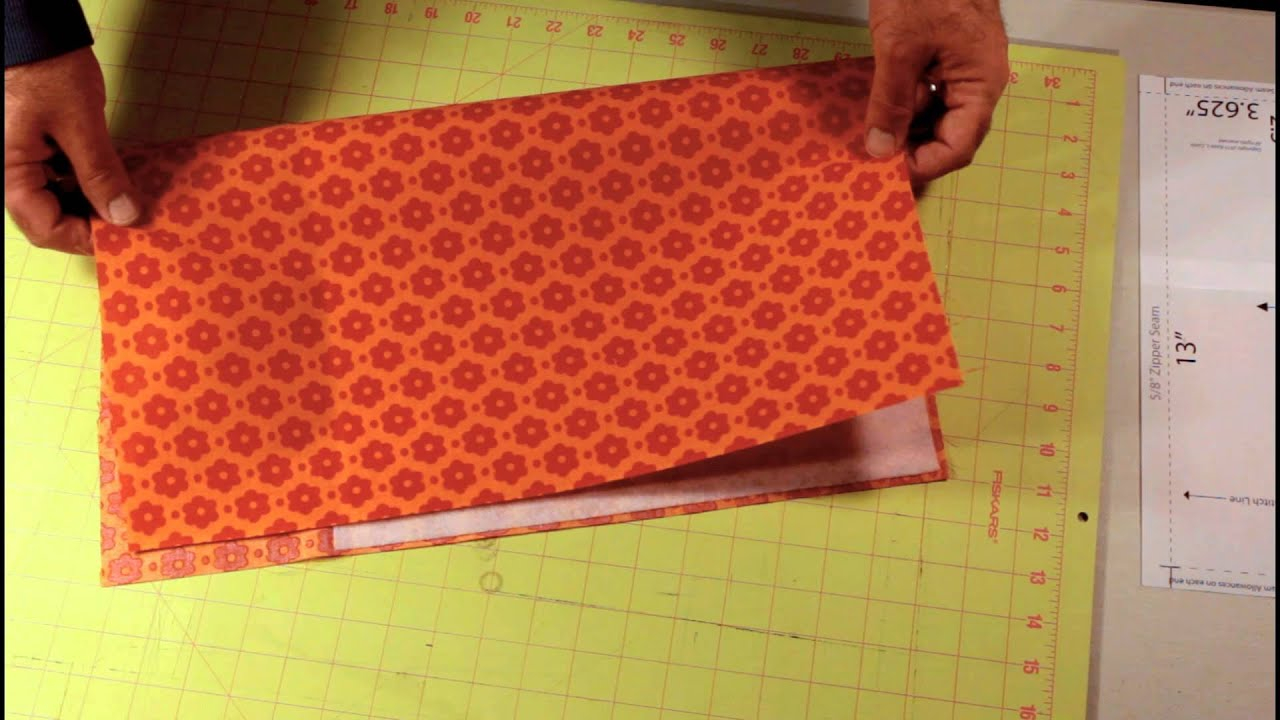 Interfacing Sewing Free Pattern Makeup Bag Sew Along 4 Of 15 Interfacing And Cutting Fabric Youtube