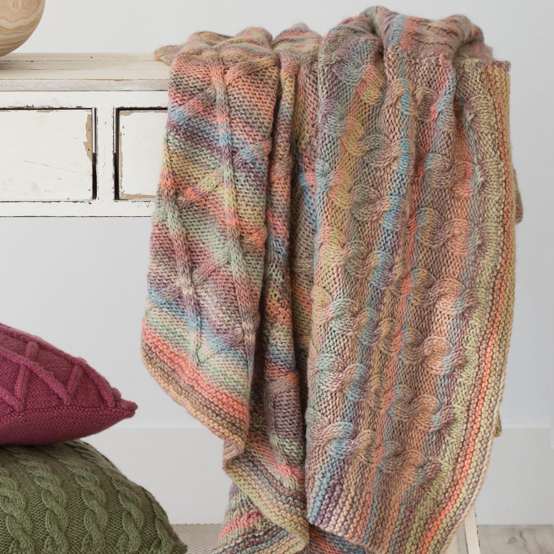 Knit Blanket Pattern Blanket Home Autumn Winter Models Patterns Katia