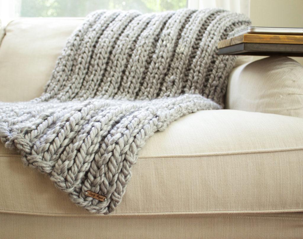 Knit Blanket Pattern Chunky Rib Stitch Knit Blanket Pattern Simplymaggie