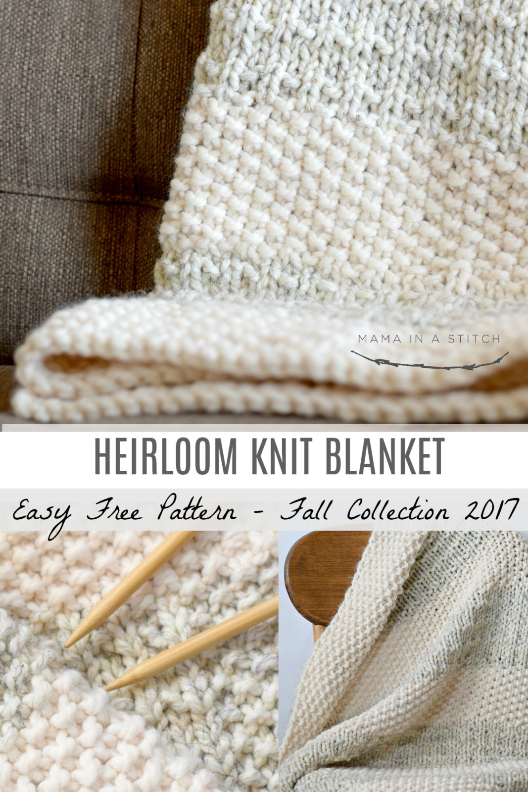Knit Blanket Pattern Easy Heirloom Knit Blanket Pattern Mama In A Stitch
