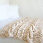 Knit Blanket Pattern Endless Cables Chunky Knit Throw Pattern Mama In A Stitch