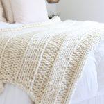 Knit Blanket Pattern Free Chunky Knit Blanket Pattern Knit A Blanket In A Weekend Easy