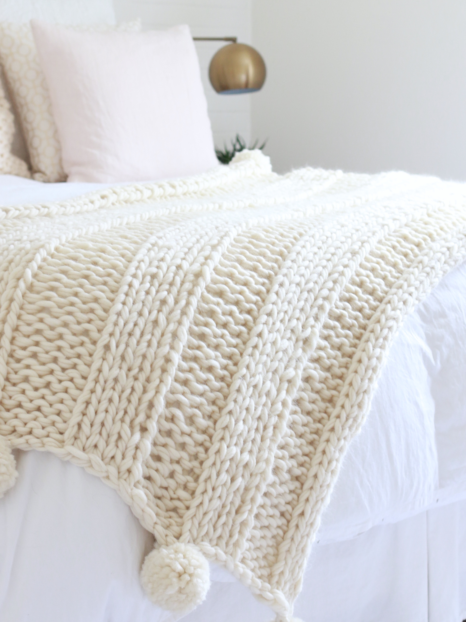Knit Blanket Pattern Free Chunky Knit Blanket Pattern Knit A Blanket In A Weekend Easy