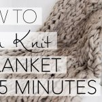 Knit Blanket Pattern How To Arm Knit A Blanket In 45 Minutes With Simply Maggie Youtube