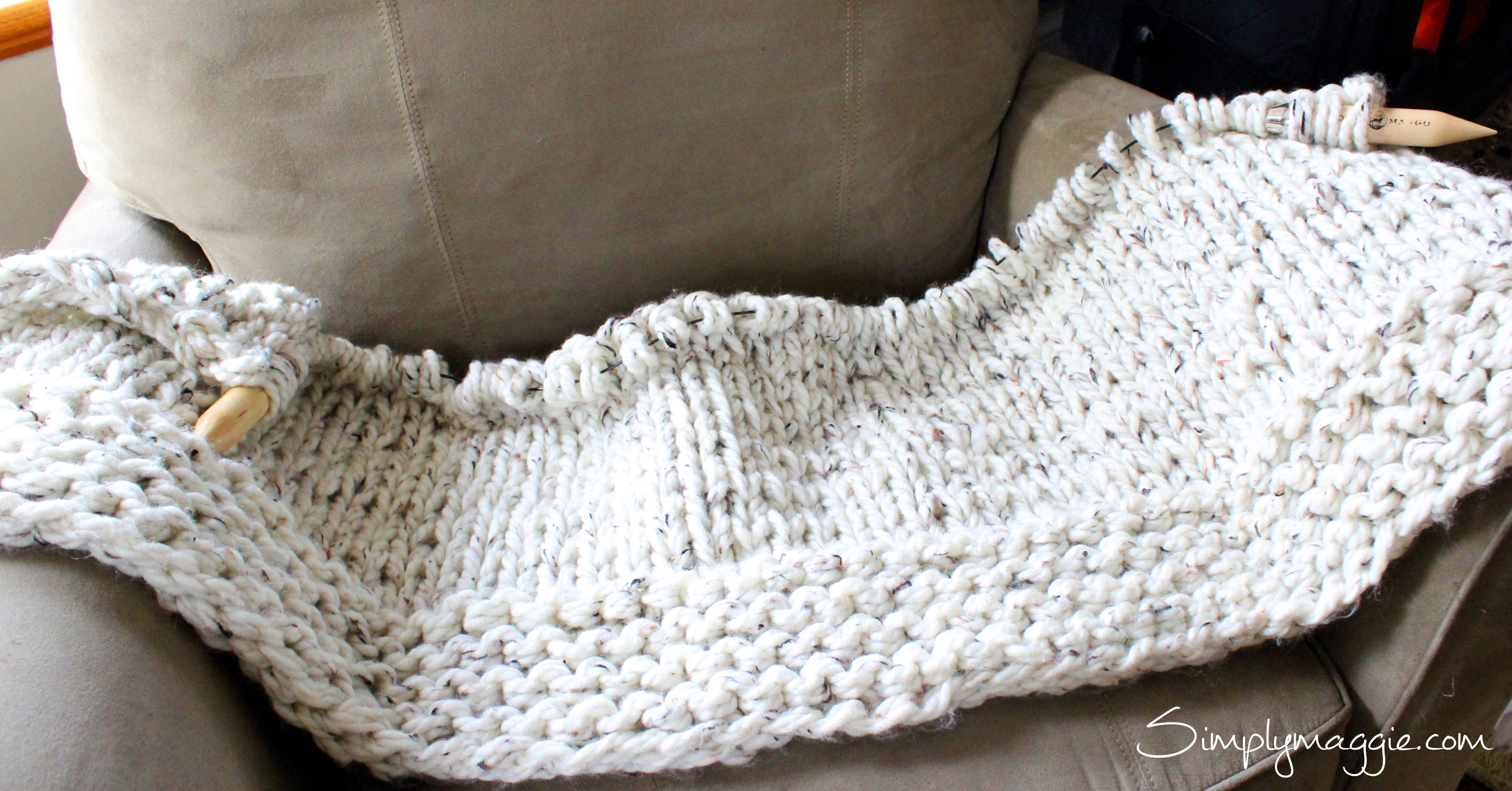 Knit Blanket Pattern Lush Knit Blanket Simply Maggie Simplymaggie